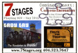 7 Stages Playing Now, flyer advertising performances at 7 Stages Theatre, Atlanta, Georgia, May...