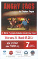"Topher Payne's ""Angry Fags,""  poster advertising the performances at 7 Stages Theatre,..."