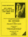 "Charlie Brown in Jim Grimsley's ""Mr. Universe,"" to benefit Project Open Hand, flyer..."