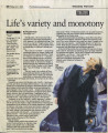 """Life's variety and monotony,"" by Wendell Brock.  In the Atlanta Journal-Constitution,..."
