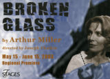 "Arthur Miller's ""Broken Glass,"" postcard announcing the performances at 7 Stages..."