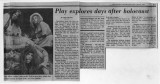 """Play explores days after holocaust,"" by Linda Sherbert.  In the Atlanta Constitution,..."