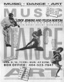 "Flyer advertising ""Music, Art, Dance,"" a multi-discipline performance with Leroy..."