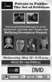 Private to Public: The Art of Activism, program for panel discussion at 7 Stages Theatre, Atlanta,...