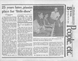 """25 years later, pianist plays for 'little show',"" by Paula Crouch.  In the Atlanta..."