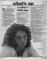 """A writer's triple play,"" by Helen C. Smith.  In the Atlanta Journal, August 21, 1982,..."