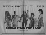 "Rebecca Ranson's ""Rising Upon the Land,"" program for the performance at 7 Stages..."