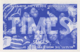 "Postcard announcing ""Times,"" performed by the Freddie Hendricks Youth Ensemble, 7 Stages..."