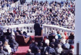 President Jimmy Carter addressing the crowd during his inauguration, 1977