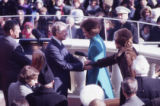 President Jimmy Carter's inauguration with First Ladies Rosalynn Carter and Betty Ford, 1977