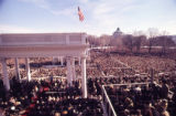 Crowds form to see President Jimmy Carter's inauguration, 1977