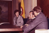 Governor Jimmy Carter and wife Rosalynn meet with the mayor of Bogota, Columbia, 1972