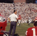 Georgia Bulldogs' coach Vince Dooley during a game, 1965