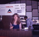 Delta Air Lines' ticket agent within Atlanta Hartsfield Airport, 1977