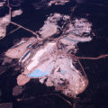 Aerial view of the Thiele Kaolin Company mines, 1971