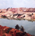 Thiele Kaolin Company mine and lake, 1971