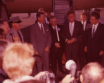Senator John F. Kennedy arrives in LaGrange for a campaign stop, 1960