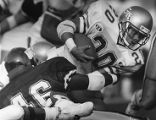 Wake Forest's Levern Belin attempts to tackle Georgia Tech's Jerry Mays, 1988