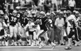 Georgia Tech's Jerry Mays breaks free for a 38 yard run against the Maryland Terrapins, 1989