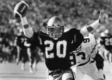 Georgia Tech's Jerry Mays celebrates scoring a touchdown against Auburn, 1985