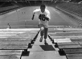 Georgia Tech's Eddie Lee Ivery running stairs, 1978
