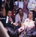 UN Ambassador Andrew Young, actor Paul Winfield, and Coretta Scott King on the set of the...