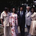 Coretta Scott King and UN Ambassador Andrew Young visit the se of the mini-series ...
