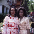"Coretta Scott King and actress Cicely Tyson on the set of ""King,"" 1977"