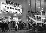 "Lines of people waiting at the Rialto Theatre for ""Our Man Flint,"" 1966"