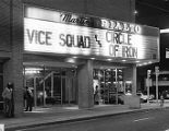 Exterior marquee of the Rialto Theater, 1982