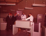 Control room and researchers at the Lowry Air Force Base, 1963