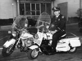 Atlanta Police Department replaces older motorcycles with a new style, 1966