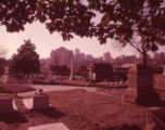 Skyline view of Atlanta from Oakland Cemetery, 1963