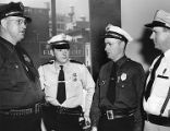 Atlanta police chiefs at court to urge a crack-down on slot machines and gambling, 1954