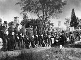 Atlanta police officers gather in Oakland Cemetery on Decoration Day, 1900