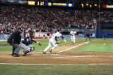 Rafael Belliard sacrifices the runner over allowing Dave Justice to score in the bottom of the...