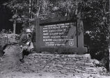 Forest ranger Gary Bell, looking at sign for the Chattahoochee National Forest, Georgia, November...