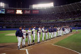 Atlanta Braves during the players' introduction, World Series Game One, 1995