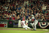 Alvaro Espinoza caught stealing by Fred McGriff, World Series Game Four, 1995