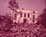 Crowds gather in front of Swainsboro's courthouse for the Pine Tree Festival, 1953