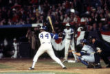 Hank Aaron at the plate before his record breaking 715th home run, 1974