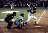 Atlanta Braves' Hank Aaron at bat moments before hitting his 715th home run, 1974