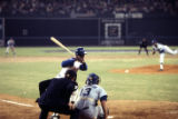 Atlanta Braves' Hank Aaron at the plate before hitting his 715th home run, 1974