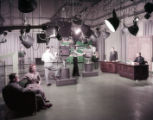Studio set up at WSB-TV during a broadcast, 1956
