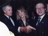 CNN's 10th anniversary party with Ted Turner, Jane Fonda, and Larry King, 1990