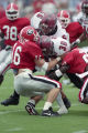 UGA's Kirby Smart helps make a tackle against New Mexico State, 1995