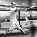 Bob Horner taking batting practice, 1978