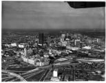 Aerial photograph of downtown Atlanta, Georgia, after 1966