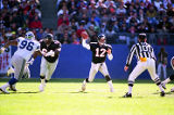 Atlanta Falcon Chris Miller in action against the Seattle Seahawks, December 15, 1991