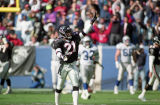 Atlanta Falcon Deion Sanders during the Falcons' last game at Fulton County Stadium, December 15,...